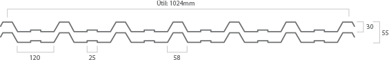Telhas Isotérmicas Termoacusticas T25xT25 Residencial